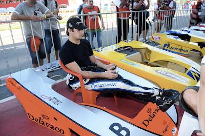 Нельсиньо Пике на картинговой гонке во Флорианополисе - январь 2013