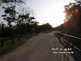 走完了屯門健身徑,回望看到斜照的太陽,很刺眼。
