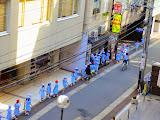 Schoolgirls headed down our street