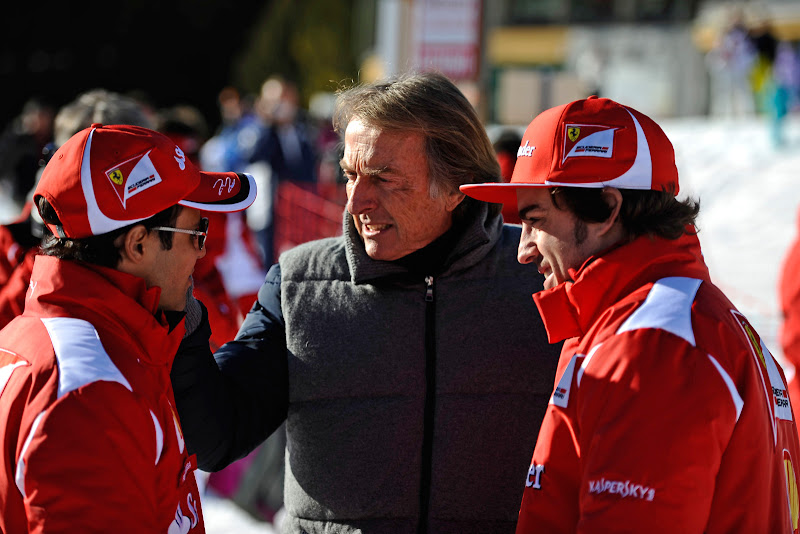 Фелипе Масса, Лука ди Монтедземоло и Фернандо Алонсо на Wrooom 2012