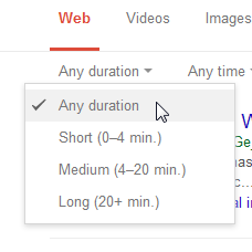 google any duration