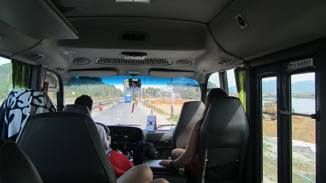 The backpacker bus from Hue to Hoi An.