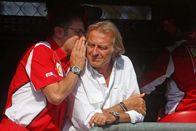Стефано Доменикали и Лука ди Монтедземоло на Гран-при Италии 2012