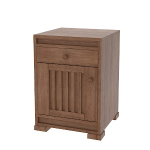 hillside nightstand with doors