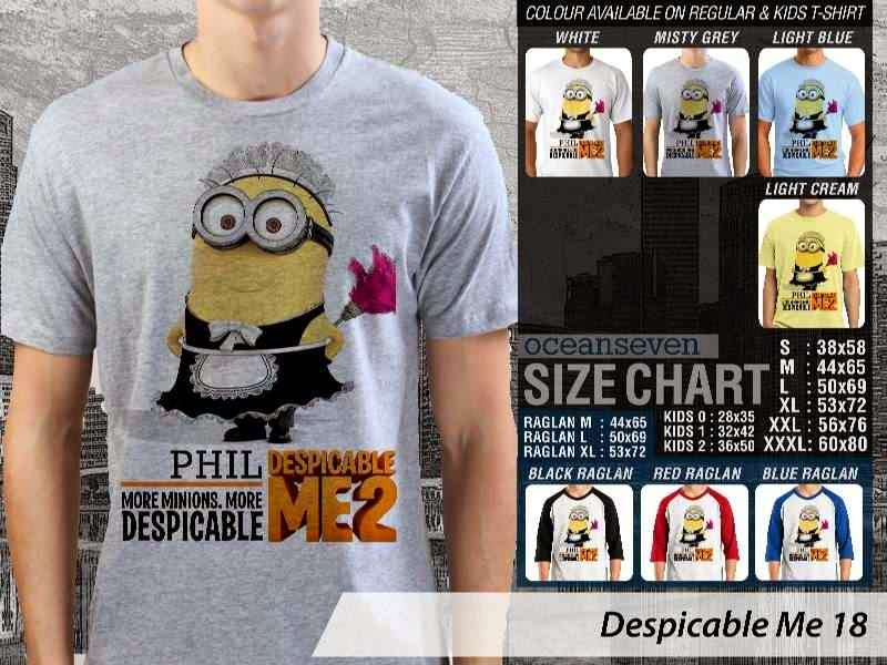 KAOS Despicable me 18 Movie Animation distro ocean seven