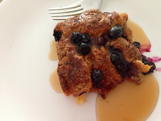 Baked Blueberry Cinnamon Croissant French Toast