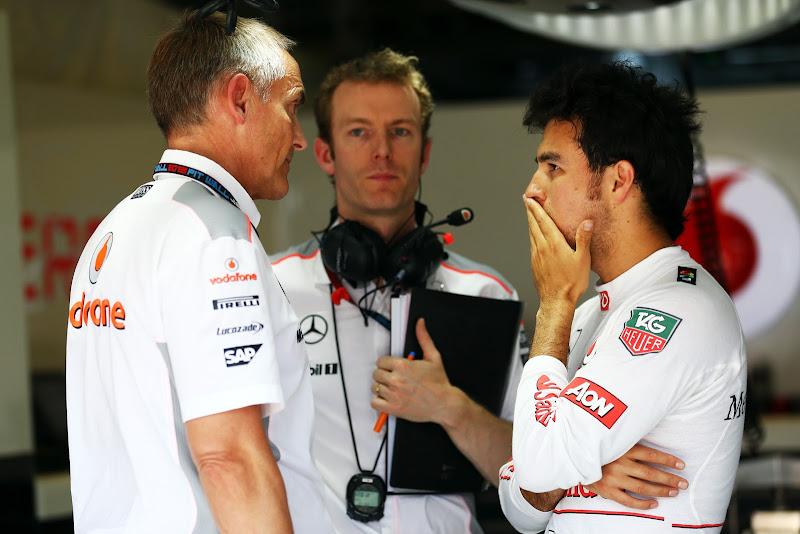 Мартин Уитмарш и Серхио Перес на Гран-при Венгрии 2013