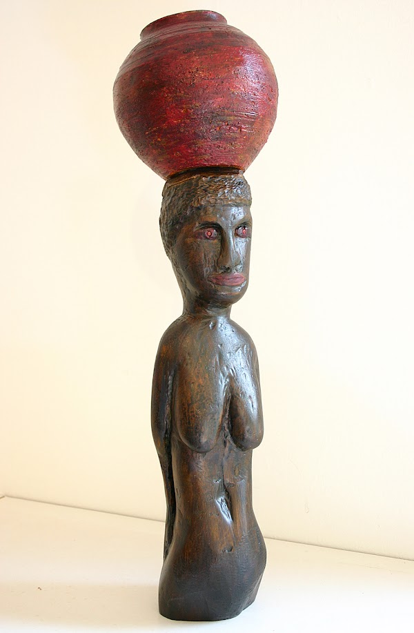 african woman (2005, sculpture by Frank Waaldijk)