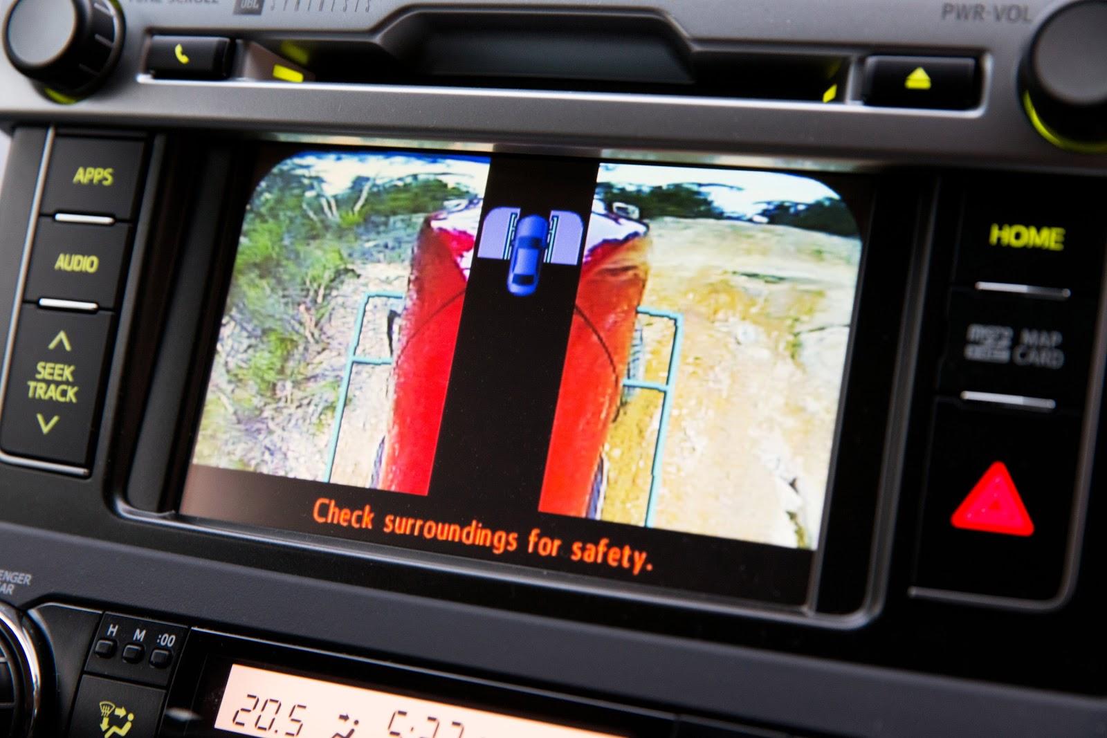 Hệ thống cảnh báo giả lập 360 độ, giúp lái xe xác định và hạn chế các nguy hiểm