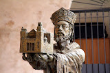 A Statue Outside of the Duomo - Monreale, Italy