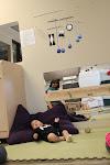LePort Private School Irvine - Baby observing mobile at infant daycare