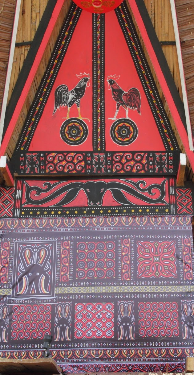 Paintings on a Tana Toraja Funeral House