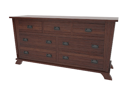 Matching Furniture Piece: Baroque Horizontal Dresser in Stormy Walnut