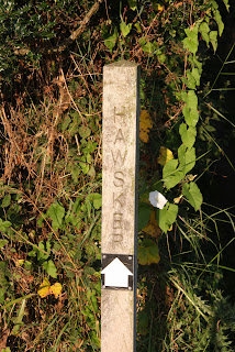 Hawsker footpath sign