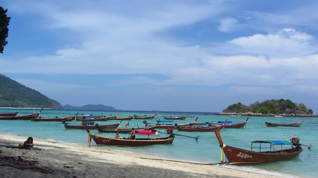 These longtail boats outside our bungalow really ruined the otherwise peaceful atmosphere.