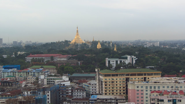 Yangon's iconic landmark, the Shwedagon Pagoda. Aung San Suu Kyi rose to power after the 1988 uprising, addressing half a million people here.