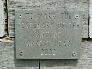 A plaque at the summit