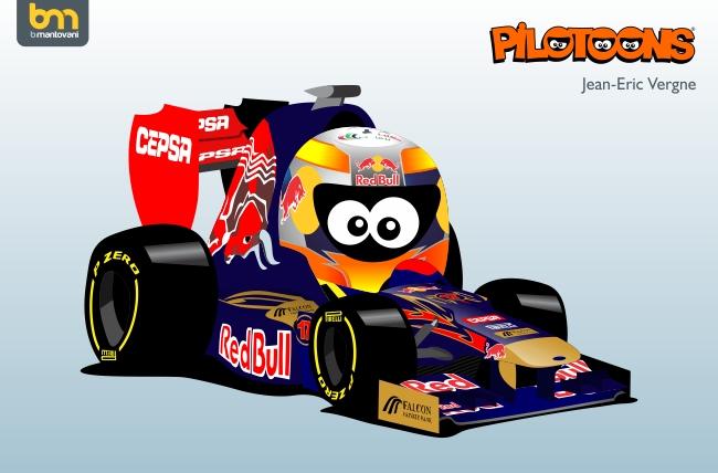 Жан-Эрик Вернь Toro Rosso STR7 pilotoons 2012