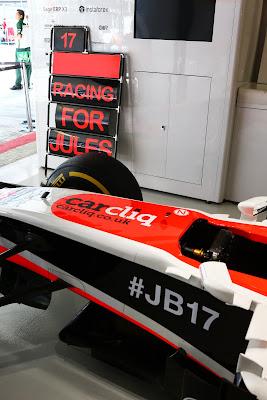 Marussia в поддержку Жюля Бьянки на Гран-при России 2014