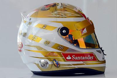 шлем Фернандо Алонсо для Гран-при Монако 2012 - вид справа