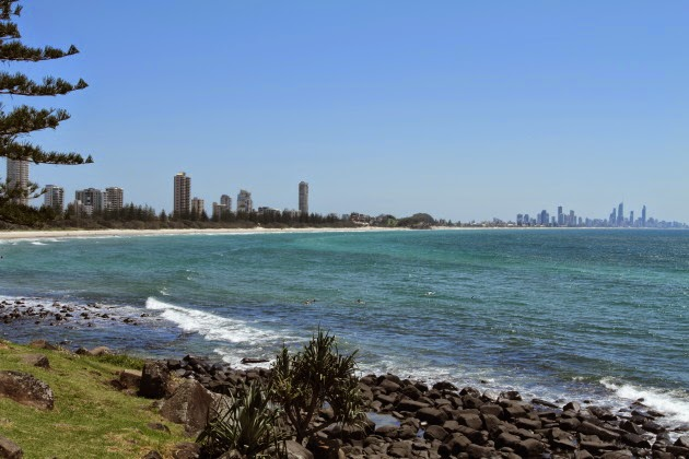 Surfers Paradise Skyline as seen from Burleigh Beach