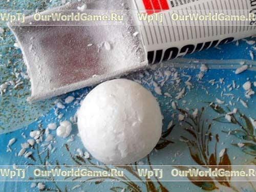 Как сделать шарики из пенопласта своими руками видео