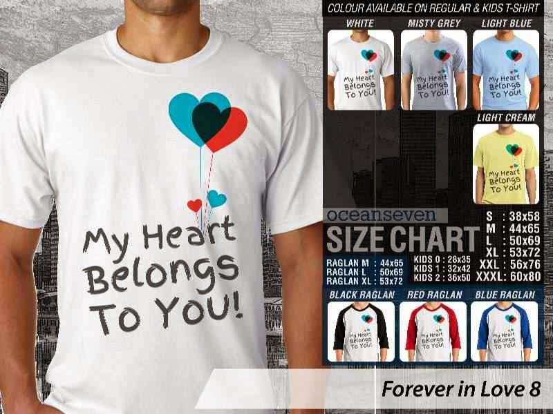 KAOS Pasangan My heart belongs to you |KAOS Forever in Love 8 distro ocean seven