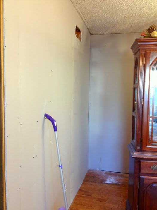 Diy Drywall Over Wood Paneling At Mom And Dad 39 S The