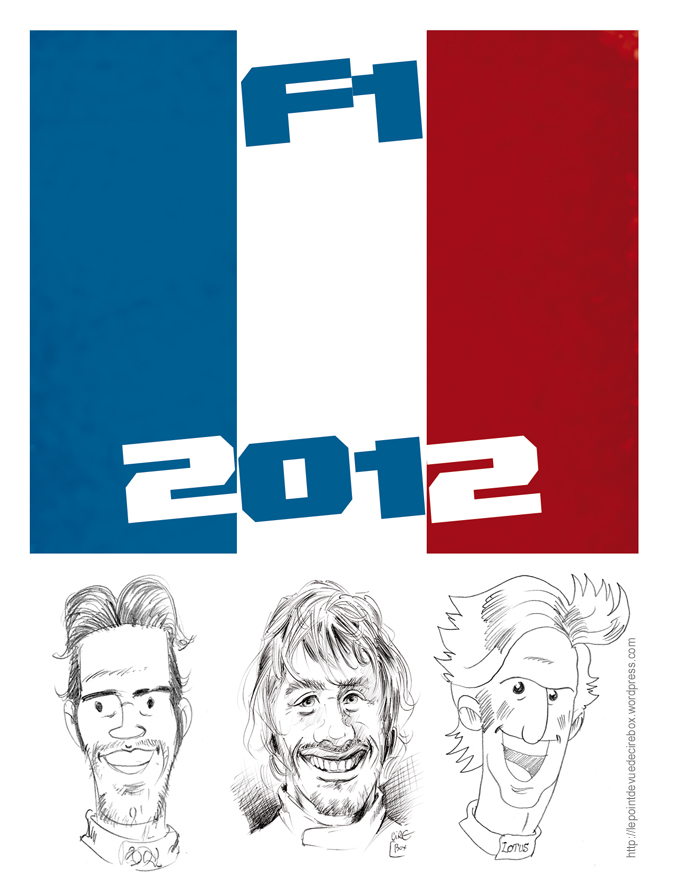 три французских пилота в Формуле-1 на сезон 2012 - комикс Cirebox