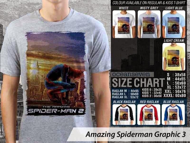 Kaos Film Superhero Amazing Spiderman Graphic 3 distro ocean seven