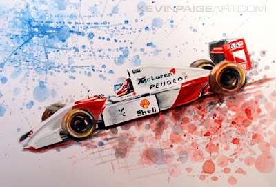 Мартин Брандл McLaren - рисунок Kevin Paige Art