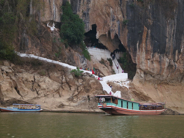 Passing the Pak Ou Caves, 25km from Luang Prabang.