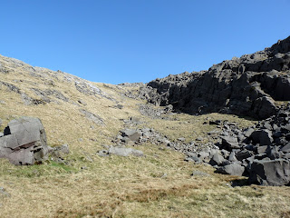 Looking back to our descent from Seathwaite Fell.