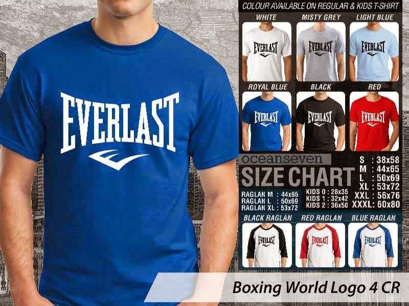 Kaos Olah Raga Sport Boxing World Logo 4 distro ocean seven