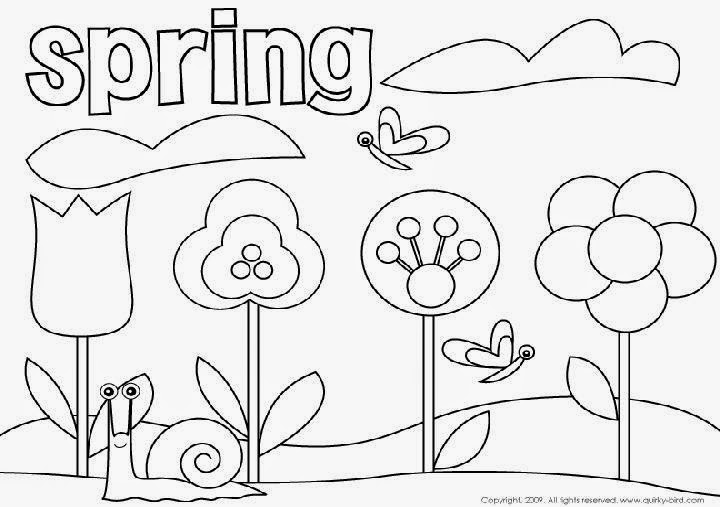 springtime coloring pages - Springtime coloring sheets Spring Flower SheKnows