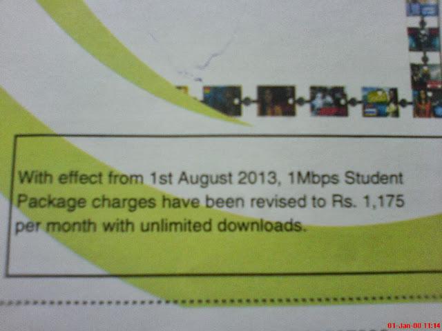 PTCL Bill Copy