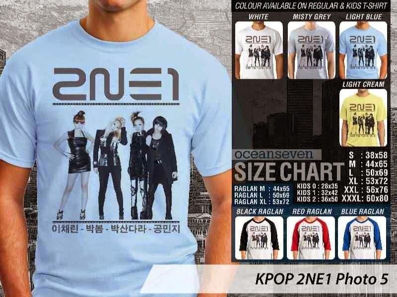 Kaos 2ne1 5 Photo K Pop Korea distro ocean seven