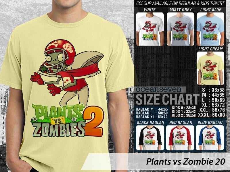 KAOS Plants VS Zombie pvz 20 Game Lucu distro ocean seven