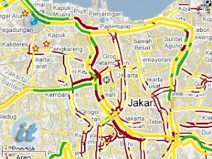 Google maps kini memantau kemacetan jalan di jakarta google maps indonesia di blackberry publicscrutiny Image collections