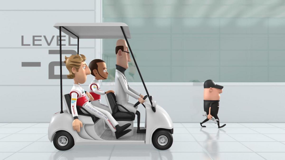 Льюис Хэмилтон и Дженсон Баттон - персонажи анимационных роликов команды McLaren