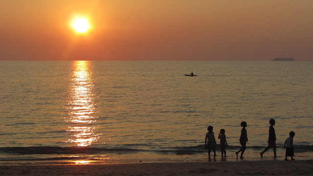Local kids playing on Long Beach, Koh Lanta.