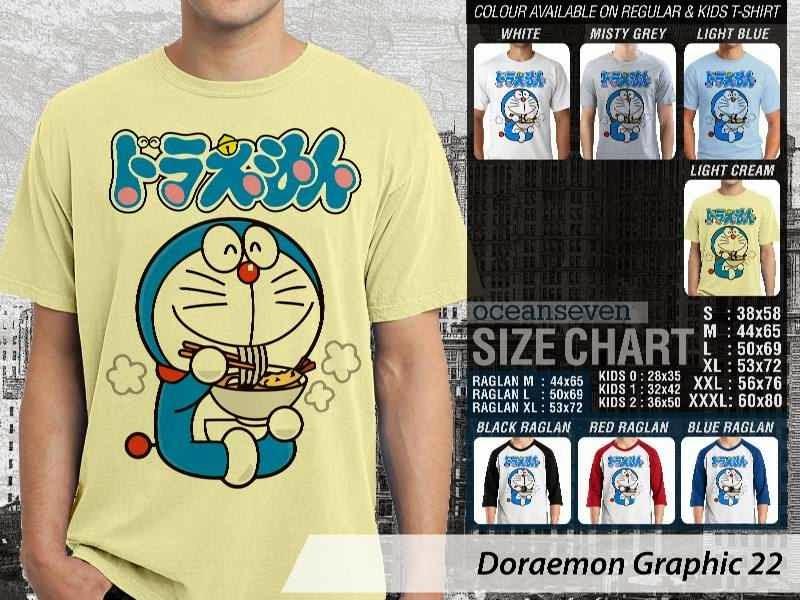 KAOS Doraemon 62 Manga Lucu distro ocean seven