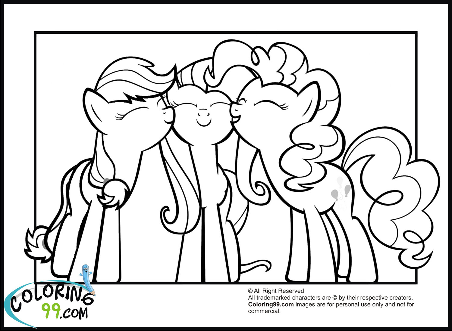 pinkie pie my little pony coloring pages - My Little Pony on Pinterest Pinkie Pie, Rainbow Dash and