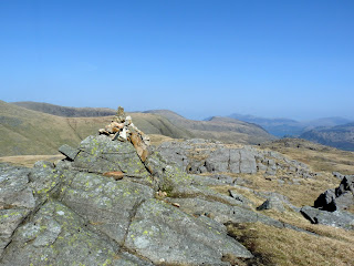 Great Slack to Wainwright Top on Seathwaite Fell.