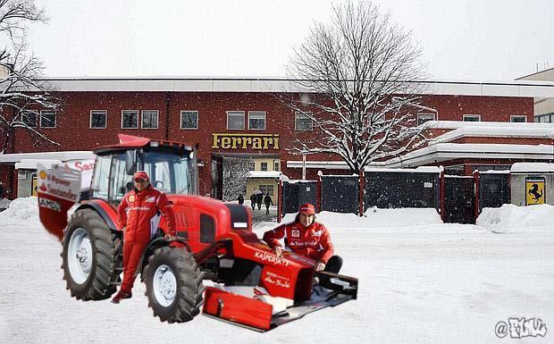 Фелипе Масса и Фернандо Алонсо презентуют новый трактор Ferrari - фотошоп F1ML