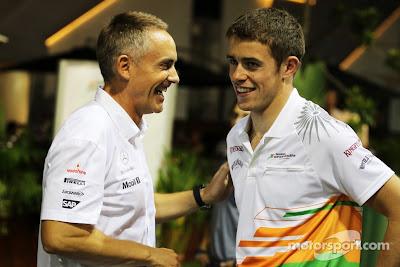 Мартин Уитмарш и Пол ди Реста на Гран-при Сингапура 2012