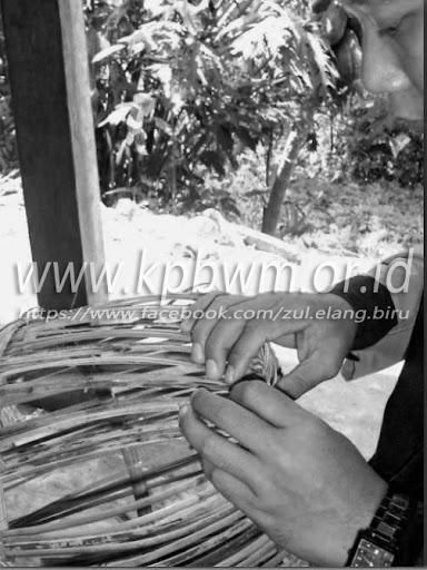 anyaman baka desa kurra tapango polewali mandar