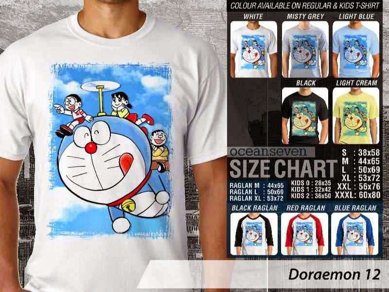 KAOS Doraemon 12 Manga Lucu distro ocean seven