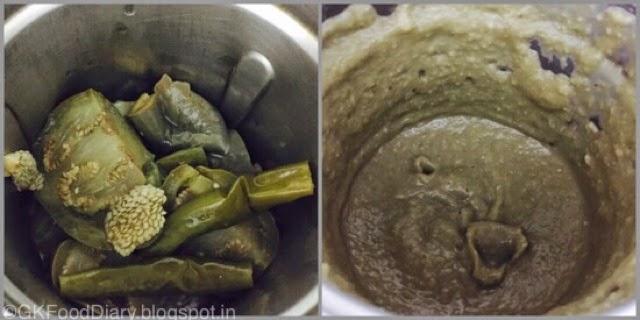 Brinjal Gothsu Recipe (Kathrikkai Gothsu Tirunelveli Style )| Side dishfor Idli Dosa 3