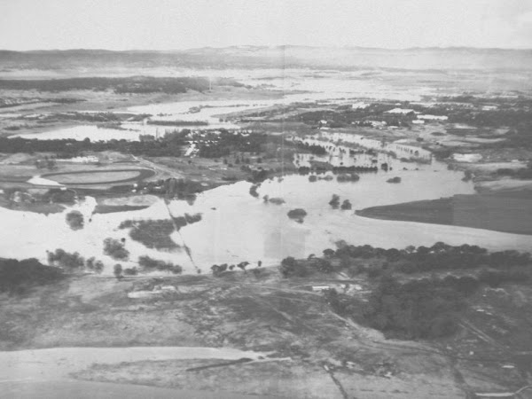 canberra flood 1955